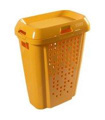 cesto de roupas astra rb7 45 litros com tampa maracujá