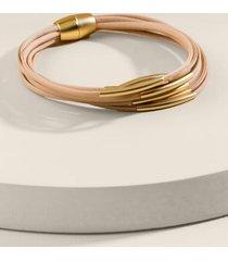emersyn magnetic wrap bracelet - taupe