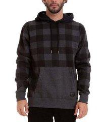 moletom quiksilver especial checker hoodie masculino