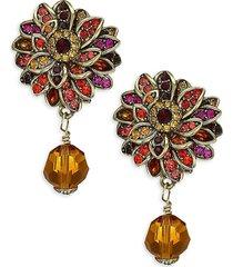 heidi daus women's crystal fall flower drop earrings