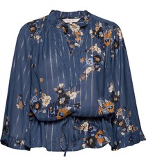 adalie bl blouse lange mouwen blauw part two
