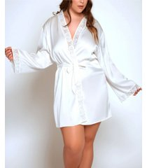 icollection ultra soft lace trimmed robe