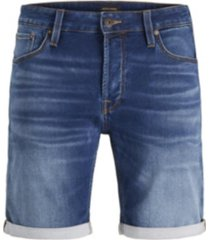 jack & jones men's indigo knit denim shorts