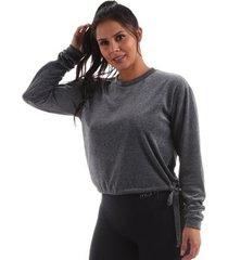 blusão plush manly feminina