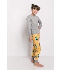 pijama manga longa acuo pijama manga longa amarelo - amarelo - dafiti