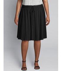 lane bryant women's crepe mini skirt 22/24 black