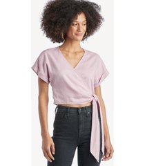 lost + wander women's santorini paradise top in color: lavendar size large from sole society
