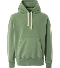 nigel cabourn embroidered logo hoodie - vintage army green nclghd-arm