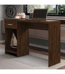 mesa escrivaninha 1 gaveta prisma new rustic - móveis germai
