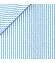 abito da uomo su misura, lanificio subalpino, seersucker stretch rigato azzurro, primavera estate | lanieri