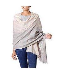 wool shawl, 'dusk shadows' (india)
