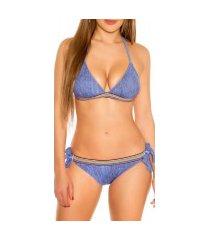 bikini donkerblauw