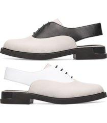 camper twins, scarpe formali donna, beige/bianco/nero, misura 42 (eu), k200915-003