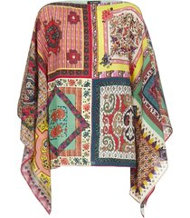etro poncho coat