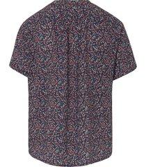 shirt korte mouwen en millefleursprint van peter hahn blauw
