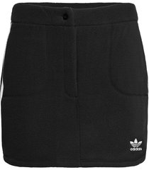 adicolor classics polar fleece skirt w kort kjol svart adidas originals