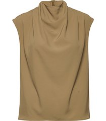 volon blouse mouwloos beige tiger of sweden