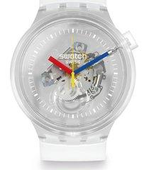 reloj swatch unisex big bold jellyfish/so27e100 - transparente