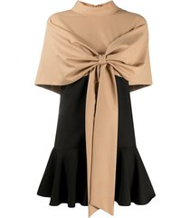 atu body couture bow front dress - black