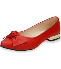 baletas rojo bata whitney r mujer