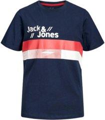 jack & jones blauw t-shirt stairs