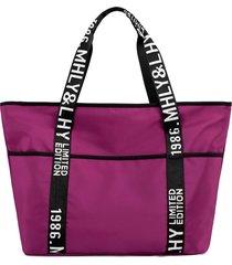 borsa a tracolla con lettera da donna tote borsa casual nylon borsa