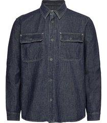 denim worker shirt in standard fit skjorta casual blå gap