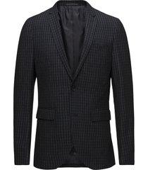 george square check blazer blazer colbert blauw matinique