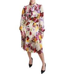 a-lijn midi-jurk met bloemenprint