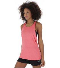 camiseta regata adidas 3 stripe tank - feminina - rosa