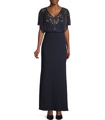 beaded popover waist gown