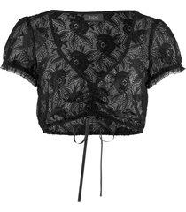camicetta bavarese in pizzo (nero) - bpc bonprix collection