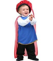 fantasia infantil - sulamericana príncipe bêbe - tamanho p (1 ano) - 10315 - azul