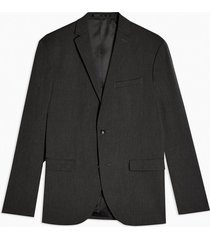 mens charcoal grey regular fit single breasted suit blazer with notch lapels