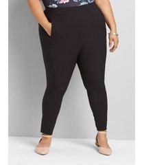 lane bryant women's on-the-go legging pant with cellphone pocket 18 black