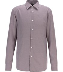 boss men's t-carl slim-fit micro-check shirt