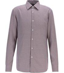 boss men's t-carl slim-fit micro-check shirt