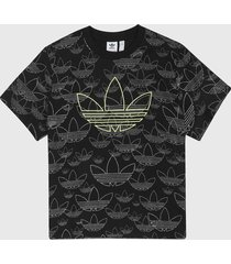 camiseta negro-blanco-amarillo adidas originals