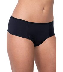 calcinha click chique biquãni lateral larga dupla preta - preto - feminino - dafiti