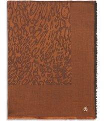 calvin klein leopard-print pashmina wrap
