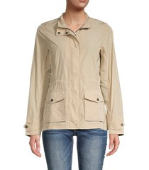 barbour women's lucie zippered jacket - putty - size 12