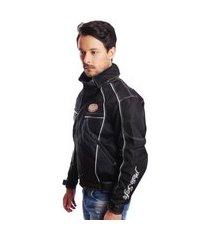 jaqueta casaco nylon para motociclista moto com air bag esportiva sport qualidade preto