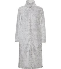 fe fleece robe w zipper morgonrock grå missya