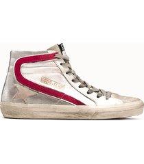 golden goose deluxe brand sneakers alta in tessuto