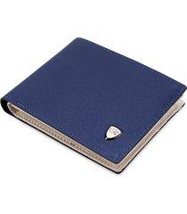 billetera super- billetera corta con cremallera interna-azul