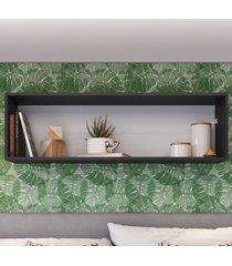 nicho de decoração retangular ae120 preto - art in móveis