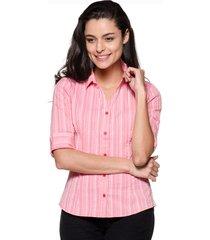 camisa intens manga 3/4 algodão vermelho