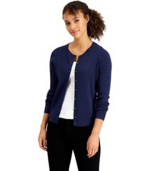 charter club cable-knit button-up cardigan, created for macy's