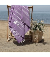 linum home lucky glittery starfish pestemal beach towel bedding