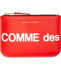 comme des garcons wallets comme des garcons huge logo small zip pouch in red at nordstrom